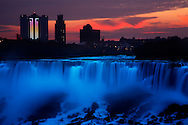 Dawn Begins Over The American Falls, Niagara Falls, New York, USA