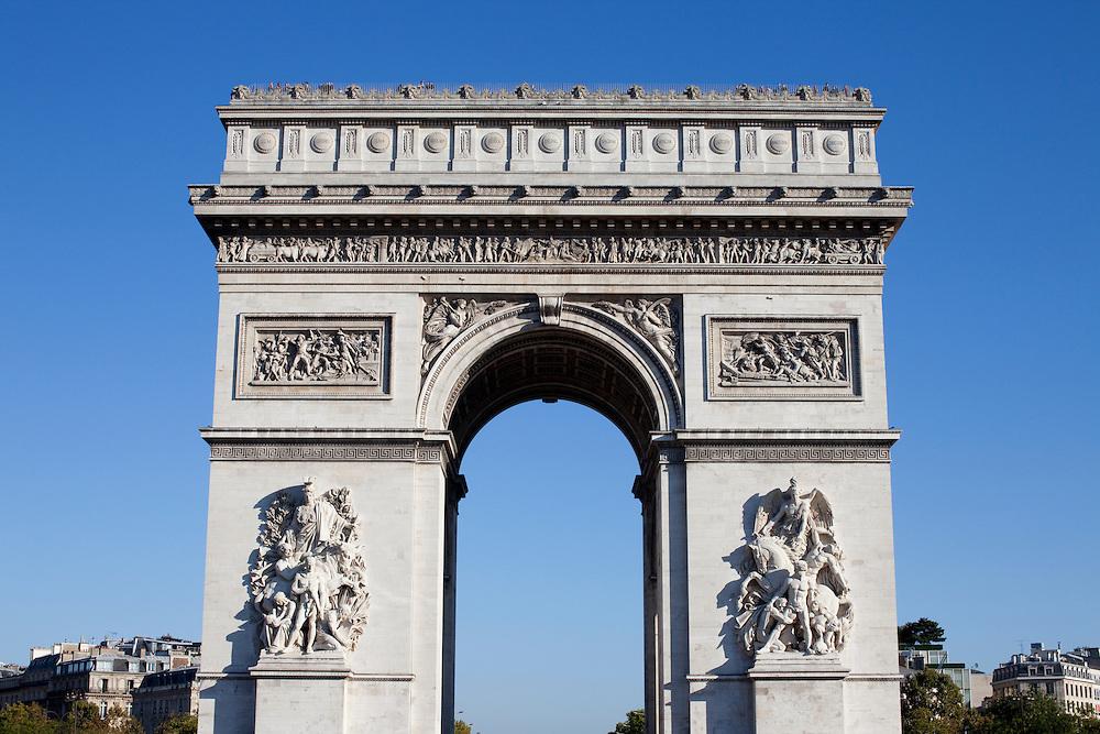 Paris, France. October 10th 2010..Arc de Triomphe.