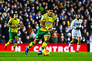 Onel Hernández of Norwich City (25) in action during the EFL Sky Bet Championship match between Leeds United and Norwich City at Elland Road, Leeds, England on 2 February 2019.