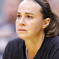 22 June 2014: guard Becky Hammon (25) of the San Antonio Stars is seen on the bench during the San Antonio Stars 72-69 victory over the Los Angeles Sparks, at the Staples Center, Los Angeles, California, USA.