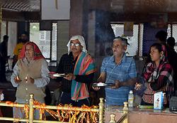 June 1, 2017 - Ganderbal, Jammu and Kashmir, India - Kashmiri Hindu devotees prays at Mela Kheer Bhawani in Tulla Mulla area of Ganderbal. Every year Kashmiri hindus visit Kheer Bhawani temple in Kashmir for the annual festival. (Credit Image: © Muzamil Mattoo/Pacific Press via ZUMA Wire)