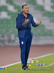 DOHA, Nov. 21, 2018  Iran's head coach Carlos Queiroz reacts during an international friendly soccer match between Iran and Venezuela at Al Ahli Stadium in Doha, capital of Qatar, Nov. 20, 2018. The match ended with a 1-1 draw. (Credit Image: © Nikku/Xinhua via ZUMA Wire)