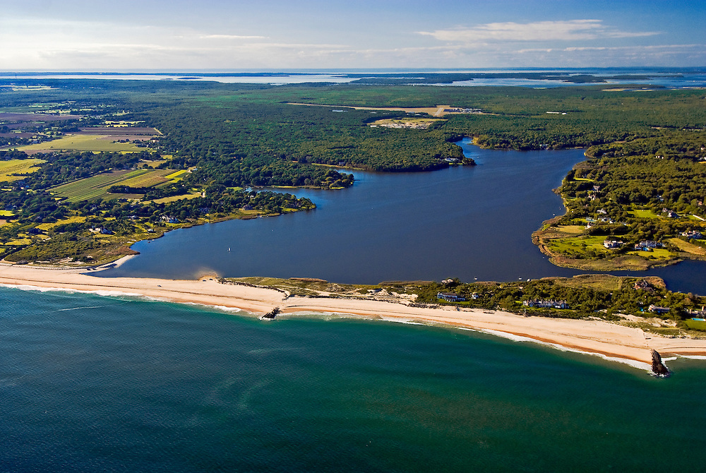 New York, East Hampton, Wainscott Pond, Long Island, South Fork, Atlantic Ocean