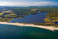 New York, East Hampton, Wainscott Pond, Long Island, South Fork, Atlantic Ocean