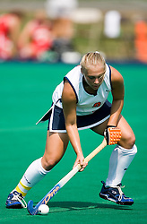 Virginia Cavaliers M/F Traci Ragukas (9)..The Virginia Cavaliers field hockey team fell to the Boston University Terriers 3-0 at the University Hall Turf Field in Charlottesville, VA on September 23, 2007