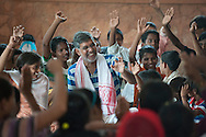Kailash Satyarthi is commended by the World's Children's Prize 2015 for his dangerous struggle against child labour and slavery, and for all children's right to education.