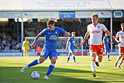 Peterborough United's Jamie Walker (6) with a shot during the EFL Sky Bet League 1 match between Peterborough United and Blackpool at The Abax Stadium, Peterborough, England on 29 September 2018.