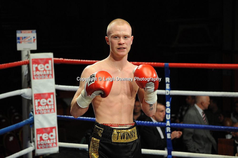 Anthony Smith (pictured in his pro debut fight) defeats Kevin Coglan in a 4 x 3 min round Flyweight contest at Olympia, Liverpool on the 11th June 2011. Frank Maloney Promotions.Photo credit: Leigh Dawney 2011