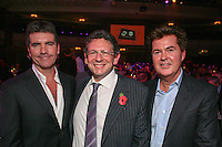 Left to Right Simon Cowell, Lucian Grainge (MIT Awards recipient and Universal Music Group International Chairman/CEO) Simon Fuller (chief executive, 19 Entertainment)