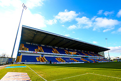 A general view of the One Call Stadium, home to Mansfield Town - Mandatory by-line: Ryan Crockett/JMP - 02/02/2019 - FOOTBALL - One Call Stadium - Mansfield, England - Mansfield Town v Macclesfield Town - Sky Bet League Two