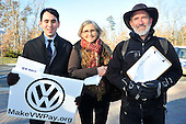 """PIRG press conference on Volkswagen """"defeat device"""" scandal."""