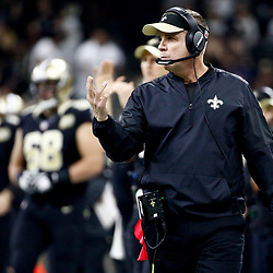 Dec 24, 2016; New Orleans, LA, USA; New Orleans Saints head coach Sean Payton against the Tampa Bay Buccaneers during the second quarter of a game at the Mercedes-Benz Superdome. Mandatory Credit: Derick E. Hingle-USA TODAY Sports