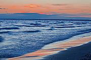 Lake Ontario at sunset<br /> Sandbanks Provincial Park<br /> Ontario<br /> Canada