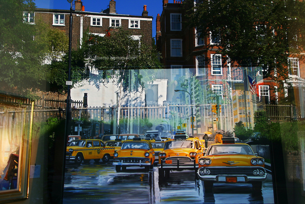 England, London: Art Gallery shop window in Hampstead Heath England, London: