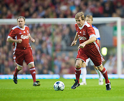 LIVERPOOL, ENGLAND - Thursday, May 14, 2009: Liverpool Legends' player/manager Kenny Dalglish in action against All Stars during the Hillsborough Memorial Charity Game at Anfield. (Photo by David Rawcliffe/Propaganda)