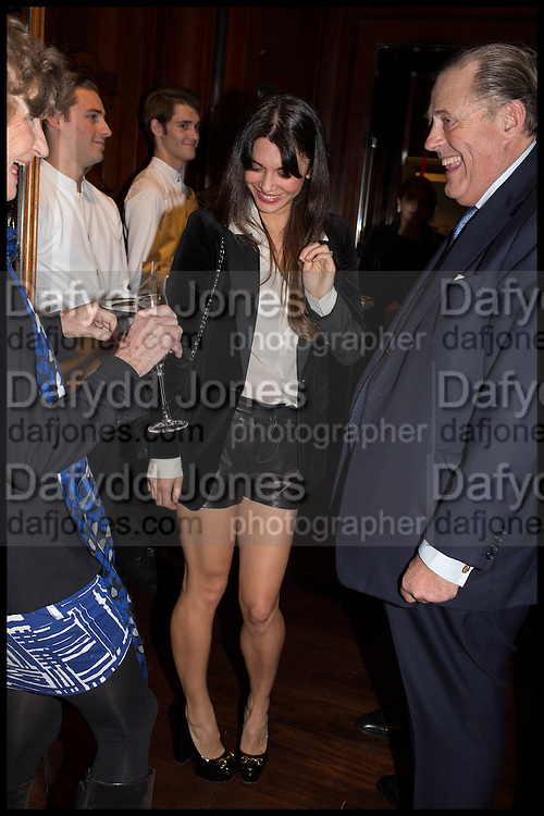 LOHRALEE ASTOR; DAVID KER, Ralph Lauren host launch party for Nicky Haslam's book ' A Designer's Life' published by Jacqui Small. Ralph Lauren, 1 Bond St. London. 19 November 2014
