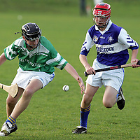 051105<br />Kilmaleys Darragh Keane (right) chases down Inagh Kilnamonas Brian Hehir during their U13 Semi Final at Eire Og on Saturday .Pic Arthur Ellis/Press 22.