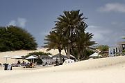 Restaurant of beach on the beach) of Chave. Restaurant de plage sur la plage de Chave.