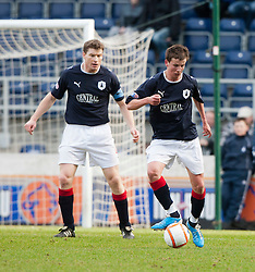 Falkirk's Darren Dods and Kris Faulds..Falkirk 3 v 0 Queen of the South, 25/2/2012..© Michael Schofield.