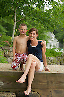 Bradley family portrait session lakeside.  Karen Bobotas Photographer
