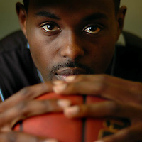California State University San Bernardino basketball player Prentice Harris, Dec., 7, 2006. Eric Reed/Staff photographer