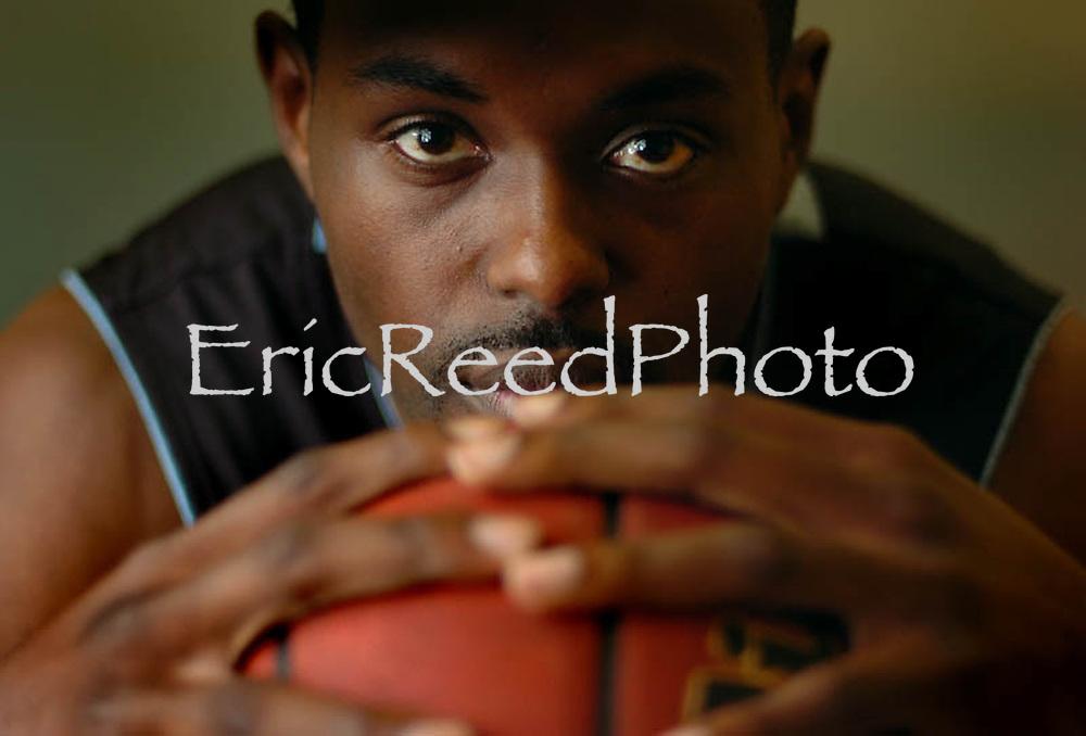 California State University San Bernardino basketball player Prentice Harris, Dec., 7, 2006. Eric Reed/Staff photographer