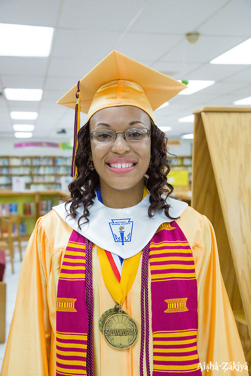 Salutatorian Deyjah A. Foster.  Ivanna Eudora Kean High School holds its 42nd Annual Commencement Exercise at Digna Marie Wheatley Gymnasium on 13 June 2015.  © Aisha-Zakiya Boyd