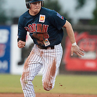 06 June 2010: Kenji Hagiwara of Rouen runs to third base during the 2010 Baseball European Cup match won 10-8 by the Rouen Huskies over AVG Draci Brno, at the AVG Arena, in Brno, Czech Republic.