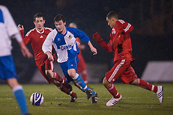 BRISTOL, ENGLAND - Thursday, January 15, 2009: Bristol Rovers' George Booth during the FA Youth Cup match at the Memorial Stadium. (Mandatory credit: David Rawcliffe/Propaganda)