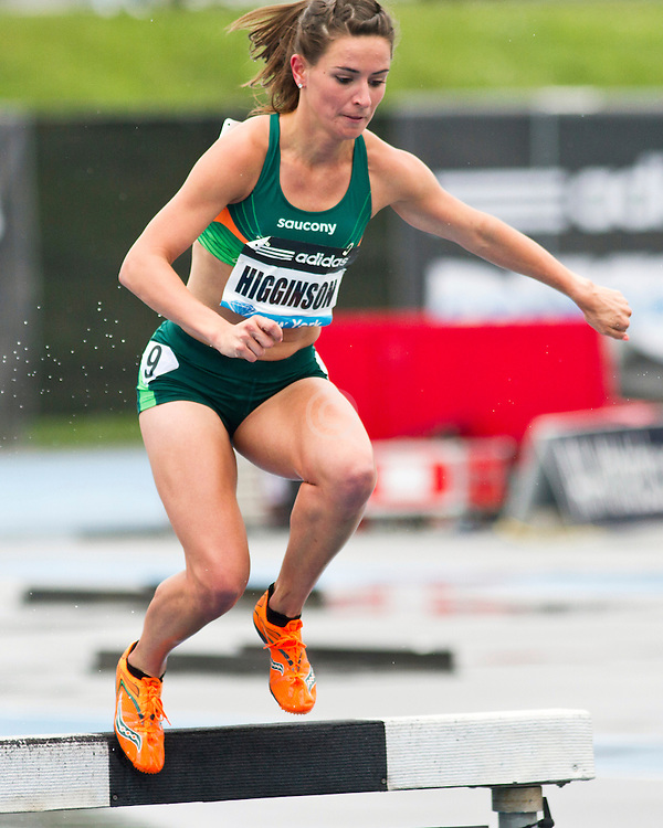 adidas Grand Prix Diamond League professional track & field meet: womens 3000 meter steeplechase, Ashley Higginson, USA