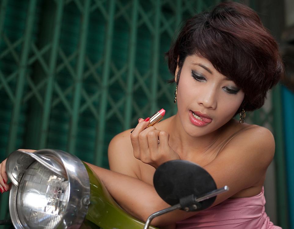 Fashion Shoot with Model at China Town, Bangkok