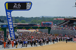 June 16, 2018 - Le Mans, Sarthe, France - Before the start of the 86th edition of the 24 hours of Le Mans 2nd round of the FIA World Endurance Championship at the Sarthe circuit at Le Mans - France (Credit Image: © Pierre Stevenin via ZUMA Wire)