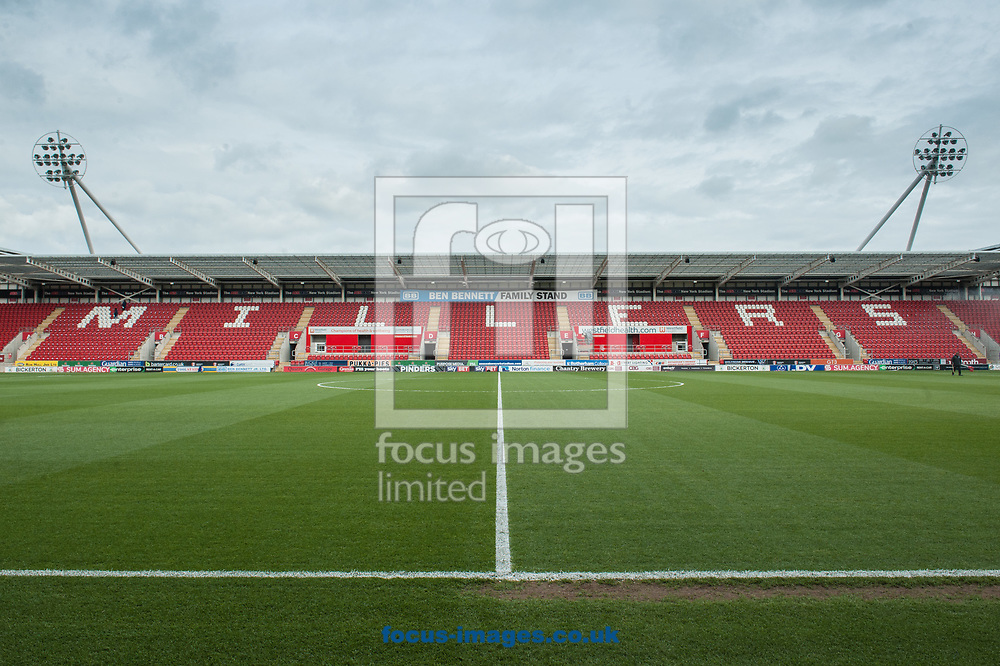 during the Sky Bet League 1 Play-Off Semi-Final match at the New York Stadium, Rotherham<br /> Picture by Matt Wilkinson/Focus Images Ltd 07814 960751<br /> 16/05/2018