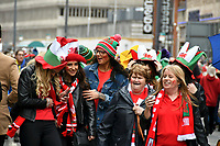 Rugby Union - 2019 Guinness Six Nations Championship - Wales vs. Ireland<br /> <br /> Fans in the streets of Cardiff prior to the match , at the Principality Stadium (Millennium Stadium).<br /> <br /> COLORSPORT/WINSTON BYNORTH