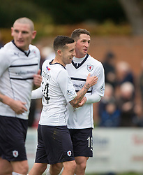 Raith Rovers Ryan Conroy celebrates after scoring their first goal from a penalty.<br /> Linlithgow Rose 0 v 2 Raith Rovers, William Hill Scottish Cup Third Round game player today at Prestonfield.