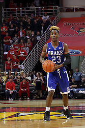 26 January 2016: Ore Arogundade(23) during the Illinois State Redbirds v Drake Bulldogs at Redbird Arena in Normal Illinois (Photo by Alan Look)