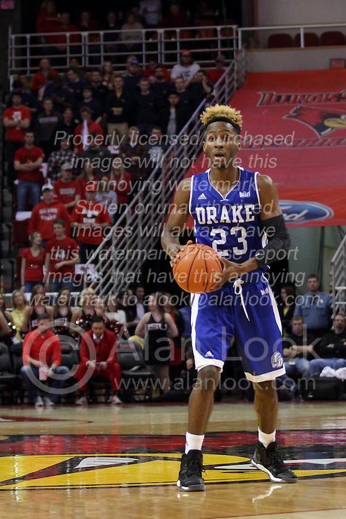 26 January 2016: Ore Arogundade(23) during the Illinois State Redbirds v Drake Bulldogs at Redbird Arena in Normal Illinois (Photo by Alan Look)