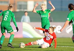Frankie Brown of Bristol City tackles Bonnie Horwood of Yeovil Town Ladies - Mandatory by-line: Nizaam Jones/JMP - 27/01/2019 - FOOTBALL - Stoke Gifford Stadium - Bristol, England - Bristol City Women v Yeovil Town Ladies- FA Women's Super League 1
