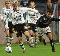 Fotball Tipeligaen Rosenborg ( RBK ) - Odd Grenland 6-0<br /> Jan Gunnar Solli mog Fernando De Ornelas<br /> Foto: Carl-Erik Eriksson, Digitalsport