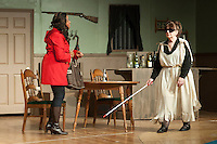 "At night at Ye Olde Wayside Inn during dress rehearsal for ""It Was a Dark and Stormy Night"" with the Streetcar Company on Tuesday, October 16, 2012.  (Karen Bobotas/for the Laconia Daily Sun)"
