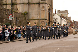 ©under licence to London News Pictures. 15/01/2011.  Homecoming Parade for the Gunners of 1 Squadron RAF Regiment in Bury St Edmunds.  The Mayor Councillor Ian Houlder & Station Commander of Honington Grp Capt Andy Hall. welcomed all to join him in greeting the troops. Parade Led by the Central Band of the RAF.  Station Commander of Honington Grp Capt Andy Hall. Photo credit should read Jason Patel/London News Pictures