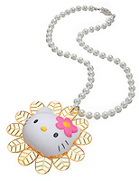 hello kitty pearl necklace with charm