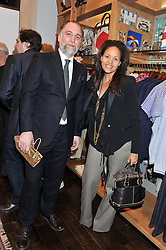 Jack Spade Designer CUAN HANLY and RACHEL BARRETT at the opening of the new Jack Spade store at 83 Brewer street, London on 29th March 2012.