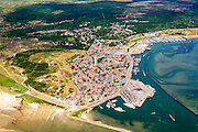 Nederland, Friesland, Terschelling, 05-08-2014;  West-Terschelling, overzicht. Wadden island Terschelling.<br /> luchtfoto (toeslag op standard tarieven);<br /> aerial photo (additional fee required);<br /> copyright foto/photo Siebe Swart