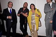MATHIAS RASFORFER; MARCO PEREGO; KRISTINA GMURZYNSKA, La Mania launch party. The Royal Academy. Burlington St. London. 16 February 2012.
