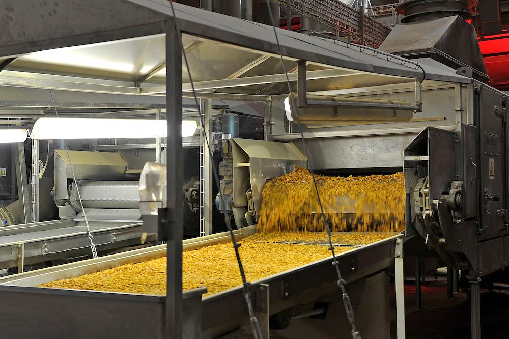 28/01/10 - THIERS - PUY DE DOME - FRANCE - L entreprise BRUGGEN, fabricant de cereales pour le petit dejeuner, delocalise une partie de sa production en Auvergne pour se rapprocher des marches d Europe du Sud en forte croissance - Photo Jerome CHABANNE