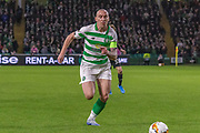 Celtic Captain Scott Brown chases down the ball during the Europa League match between Celtic and FC Copenhagen at Celtic Park, Glasgow, Scotland on 27 February 2020.