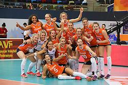 28-09-2017 AZE: CEV European Championship Italie - Nederland, Baku<br /> Nederland wint met 3-0 van Italie en staat in de halve finale / Team Nederland