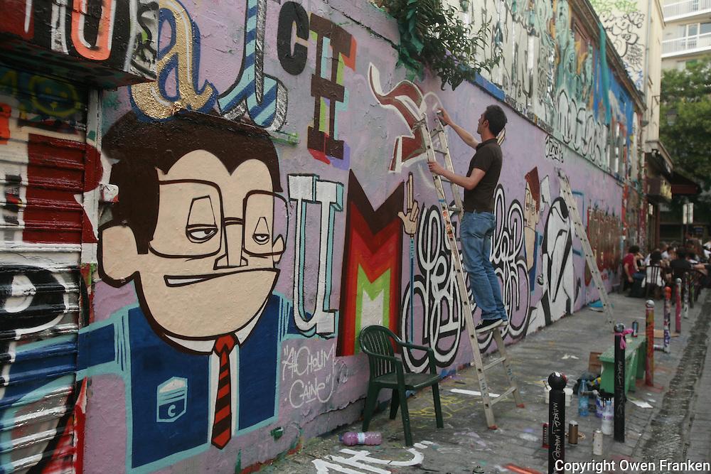graffitti- Belleville, Paris