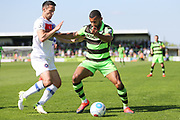 Forest Green Rovers Dan Wishart(17) holds the ball up during the Vanarama National League Play Off second leg match between Forest Green Rovers and Dagenham and Redbridge at the New Lawn, Forest Green, United Kingdom on 7 May 2017. Photo by Shane Healey.